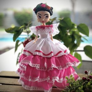 """Frida Kahlo Artesanal Doll 13"""" Tall Pink for Sale in McAllen, TX"""