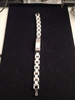 Men Stainless Steel Bracelet with Diamonds for Sale in Brentwood,  MD
