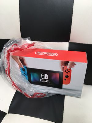 Nintendo Switch with Neon Blue and Neon Red Joy-Con for Sale in Houston, TX