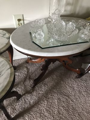 Antique tables with marble tops made in Italy for Sale in McLean, VA