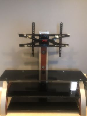 Black glass TV stand excellent condition. Like new. Wide 4.5 ft and H- 2ft for Sale in Vancouver, WA