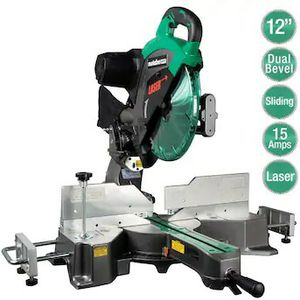 Hitachi (Metabo) HPT12-in 15-Amp Dual Bevel Sliding Compound Corded Miter Saw for Sale in Kent, WA