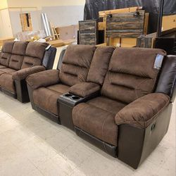👉Sofa And Loveseat 👈 In Stock👉Ashley [SPECIAL] Earhart Chestnut Reclining Living Room Set👉🤙👈 for Sale in Greenbelt,  MD