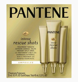 Pantene Pro-V Intense Rescue Shots Hair Ampoules for Intensive Repair of Damaged Hair, 0.5 fl oz (Pack of 3) for Sale in Naples, FL
