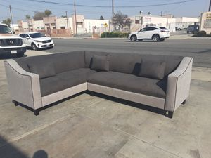 NEW 7X9FT ANNAPOLIS GRANITE FABRIC COMBO SECTIONAL COUCHES for Sale in Corona, CA