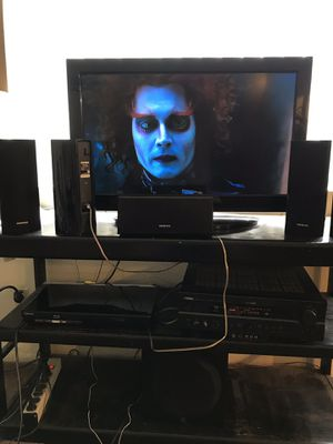 Yamaha A/V receiver RX-V620,Onkyo surround speakers,Yamaha subwoofer,32inch toshiba flatscreen TV,samsung blueray player for Sale in Stanton, CA