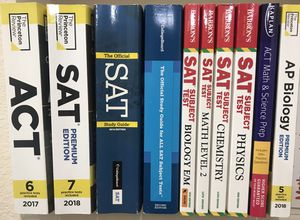 2017/18 ACT, SAT general and subject books, AP biology for Sale in Savannah, GA