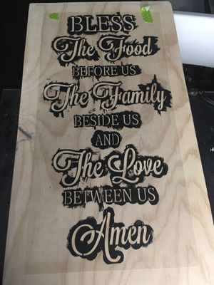 Wooden sign hand painted and stenciled for Sale in Carson, CA
