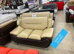 BRAND NEW 🎊 Enna Beige/Brown Sofa &loveseat for Sale in Jessup, MD