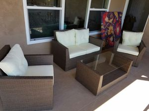 4 Piece Outdoor Wicker Patio Furniture Lounge Set New for Sale in Chula Vista, CA