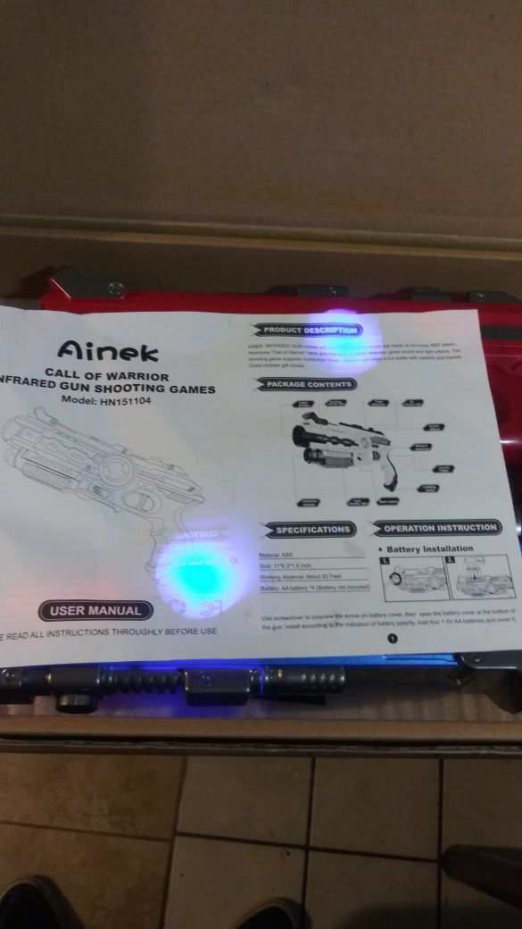 Ainek infrared laser tag