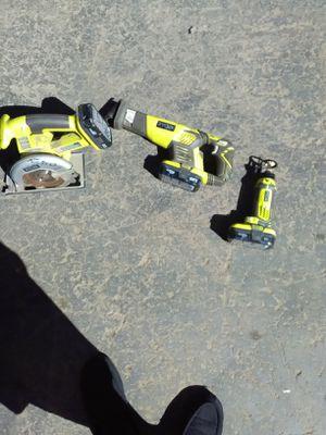 Ryobi power tools, skill saw, sawzall, speed saw rotary cutter for Sale in Modesto, CA