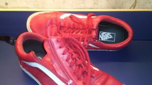 Men's Size 11.5 Vans Red Leather for Sale in Seattle, WA