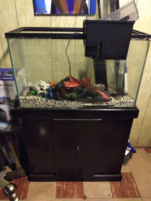 Custom Fish Tank w Accessories for Sale in West Bloomfield Township, MI