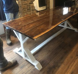 Farmhouse Epoxy Resin Dining Room Table for Sale in Iberia, MO