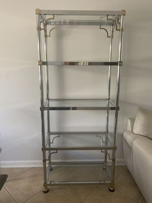 MOVING SALE *** Glass etagere/ glass shelf/ glass cabinet/ armoire for Sale in Scottsdale, AZ
