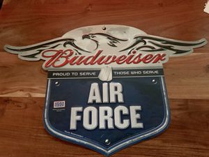 Budweiser Air Force Metal Bar Sign for Sale in Colorado Springs, CO
