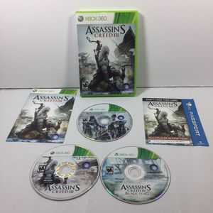Assassin's Creed III 3 Microsoft Xbox 360 for Sale in Leonia, NJ
