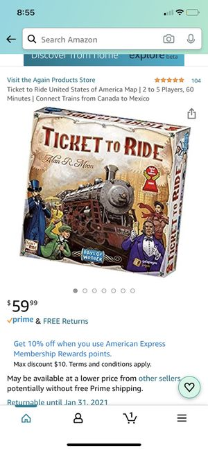 Ticket to ride - board game for Sale in San Diego, CA