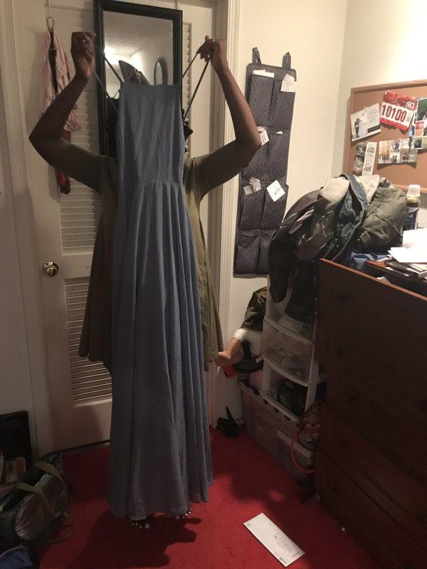 Slate Blue Flowy Dress