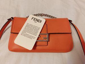 Fendi baguette mini bag orange Authentic for Sale in Irwindale, CA