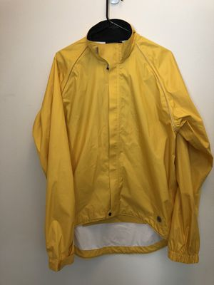 Novara cycling wind / rain shell jacket - yellow - large for Sale in Pasco, WA