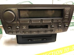 OEM LEXUS IS 300 RDS Radio 6 CD Disc changer TABE player stereo unite receiver for Sale in Westland, MI