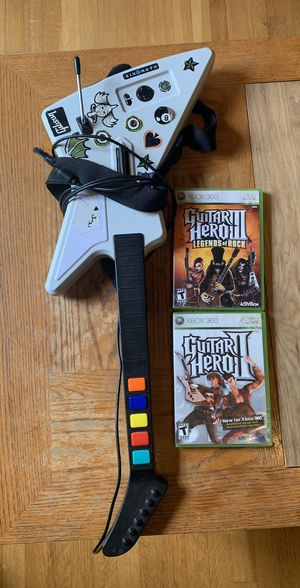 Guitar Hero guitar and disc for Xbox 360 for Sale in Claremont, CA