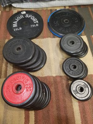 Discs free weight 25# 10# 6# 5# 3# 2.5#. Pesas gym for Sale in Alexandria, VA