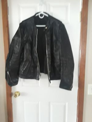 Med. Vintage Leather Motorcycle jacket for Sale in Redford Charter Township, MI
