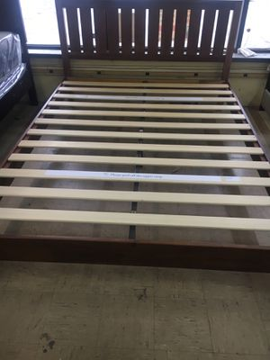 Queen Bed frame with Mattress for Sale in Indianapolis, IN