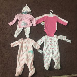 Baby Girl Clothes Size 0-3 Months Brand New With Tag for Sale in Worcester, MA
