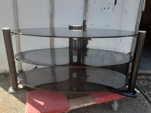 Pending Two-Tone Glass TV Stand for Sale in Seattle, WA