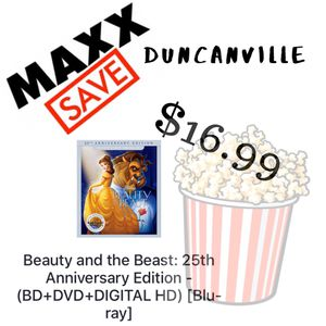 Beauty and The Beast DVD BLU RAY for Sale in Duncanville, TX