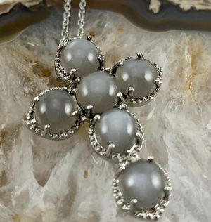 Silver Grey Moonstone Necklace for Sale in Thornton, CO