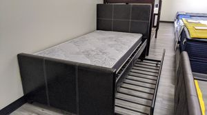 Twin trundle bed frame with regular mattress included for Sale in Glendale, AZ
