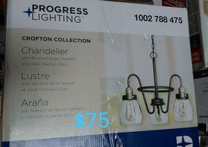 3 light crofton chandelier for Sale in Bakersfield, CA