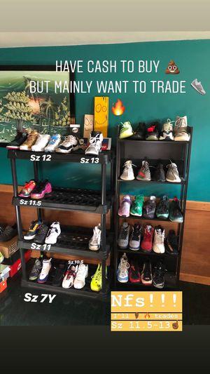 Kicks Sz 7y-14 Jordan's Yeezys Bape Supreme Hype Nike Foamposite Off White Gear Lebrons Airforce for Sale in Manassas, VA