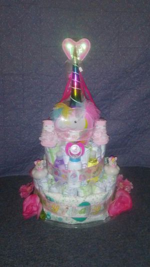Unicorn diaper cake for Sale in Thonotosassa, FL