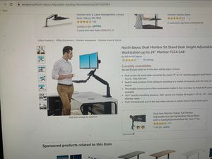 Dual monitor sit stand workstation model FC24-2AB for Sale in Menifee, CA