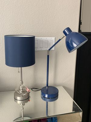 Two blue desk lamps, price is for each individual. for Sale in Las Vegas, NV