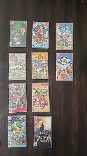 NINTENDO SWITCH GAMES BUNDLE ( PLEASE DONT ASK FOR A SINGLE GAMES I WANT SELL ALL IN ONES) for Sale in Hemet, CA