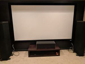 "Da-Lite Big Projector High End Screen 16:9 Fixed Frame size 110"" for Sale for sale  East Brunswick, NJ"
