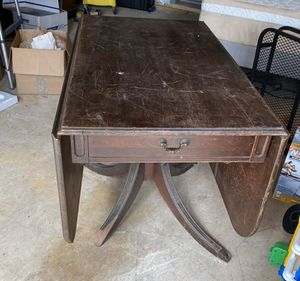 Antique Brown Drop Leaf Table for Sale in Silver Spring, MD