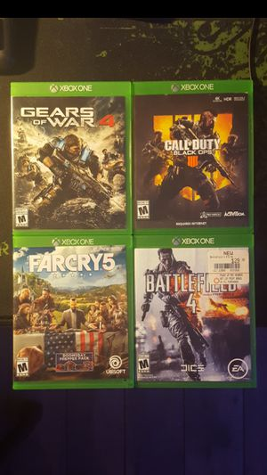 4 Xbox games shipping only for Sale in North Miami Beach, FL