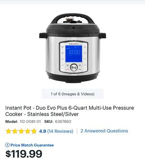 Instant pot for Sale in Baltimore, MD