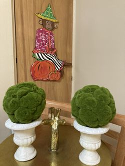 Two Mossy Topiary Trees for Sale in Western Springs,  IL