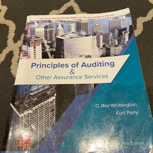 Principles Of Auditing And Other Assurance Services for Sale in Mission Viejo, CA