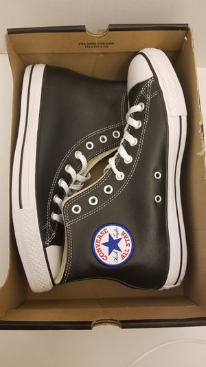 Black Leather Converse Size 10 for Sale in Queens, NY