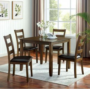 Oak 5pc dining table set couches/No Credit Needed No Credit Check Apply Today for Sale in Downey, CA